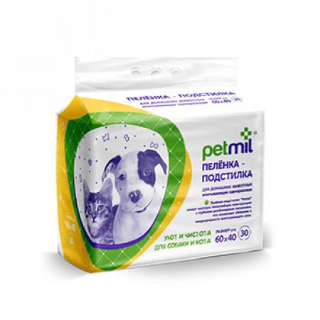 Пеленки для собак впитывающие Мedmil Petmil 60х40 см, 30 штук