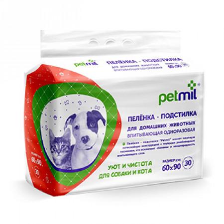 Пеленки для собак впитывающие Мedmil Petmil 60х90 см, 30 штук