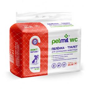 Пеленки для собак впитывающие Мedmil Petmil WC с суперабсорбентом 60х90 см, 30 штук