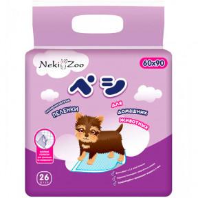 Пеленки для собак впитывающие Maneki NekiZoo с липучками 60х90 см, 26 штук
