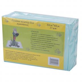 Пеленки для собак впитывающие Puppy 60х60 см, 15 штук