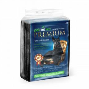 Пеленки для собак впитывающие Мedmil Petmil WC Black Premium 60х40 см, 10 штук