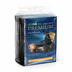 Пеленки для собак впитывающие Мedmil Petmil WC Black Premium 60х60 см, 10 штук