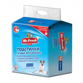 Пеленки для собак впитывающие Mr. Fresh Expert Regular 60х40 см, 30 штук
