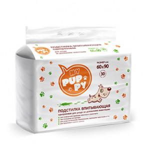 Пеленки для собак впитывающие Мedmil My Puppy 60х90 см, 30 штук