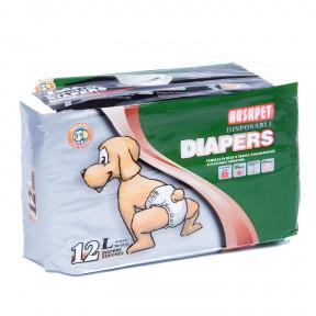 Подгузники для собак Hush Pet, размер L, 16-25 кг, 12 штук