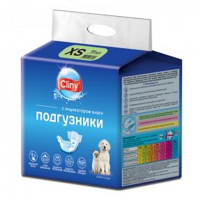 Подгузники для собак Cliny, 2-4 кг, размер XS, 11 штук