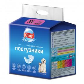 Подгузники для собак Cliny, 15-30 кг, размер XL, 7 штук