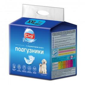 Подгузники для собак Cliny, 25-40 кг, размер XXL, 6 штук