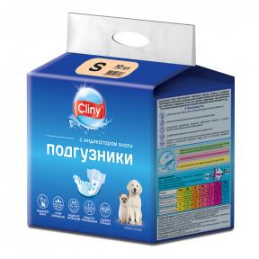 Подгузники для собак Cliny, 3-6 кг, размер S, 10 штук