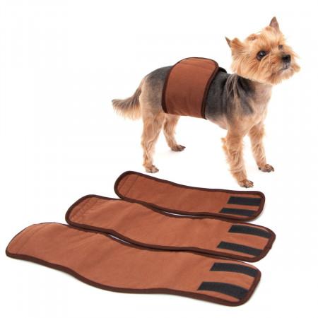 Пояс для кобелей многоразовый впитывающий OSSO Fashion Comfort, размер L, 39-44х12 см