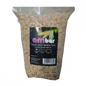 Наполнитель впитывающий для всех видов животных Ambar Кукурузный 3 л