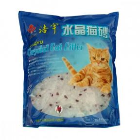 Наполнитель впитывающий Haoyu Crystal Cat Litter силикагелевый Лаванда 1.8 кг, 3.8 л