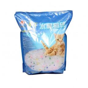 Наполнитель впитывающий Haoyu Crystal Cat Litter силикагелевый Цветные гранулы 1.8 кг, 3.8 л