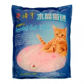 Наполнитель впитывающий Haoyu Crystal Cat Litter силикагелевый Цветочный 1.8 кг, 3.8 л