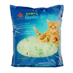 Наполнитель впитывающий Haoyu Crystal Cat Litter силикагелевый Яблоко 1.8 кг, 3.8 л