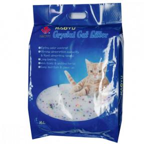 Наполнитель впитывающий Haoyu Crystal Cat Litter силикагелевый 7.2 кг, 16 л