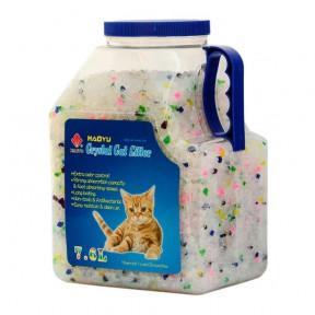 Наполнитель впитывающий Haoyu Crystal Cat Litter силикагелевый Цветные гранулы 3.3 кг, 7.6 л