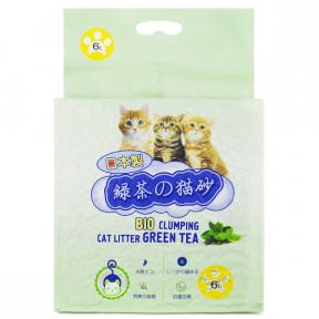 Наполнитель комкующийся HAKASE AREKKUSU Тофу Зеленый чай 6 л