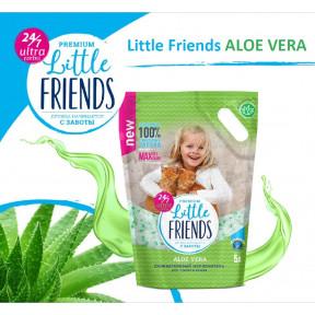 Наполнитель впитывающий Little Friends Premium Aloe Vera силикагелевый 5 л