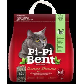 Наполнитель комкующийся Pi-Pi-Bent Сенсация свежести 5 кг