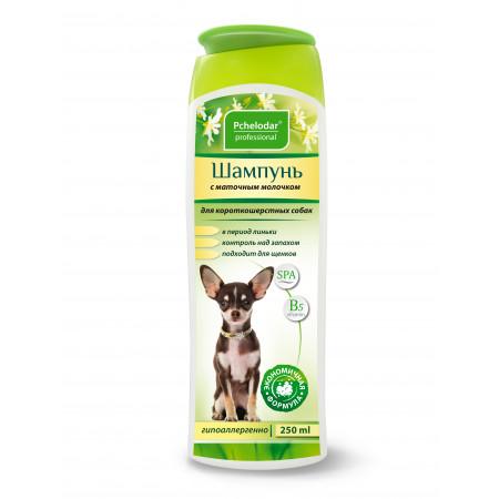 Шампунь Пчелодар Professional с маточным молочком для короткошерстных собак 250 мл