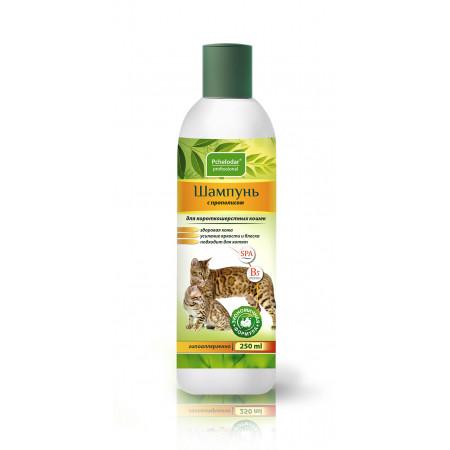 Шампунь Пчелодар Professional с прополисом для короткошерстных кошек 250 мл