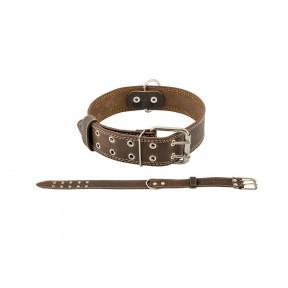 Ошейник для собак Дарэлл Стандарт кожаный 70 см, коричневый