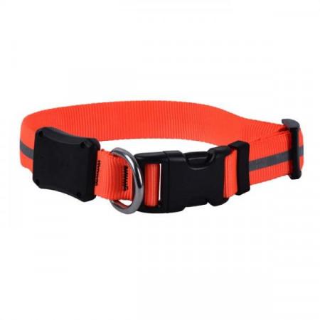 Светодиодный ошейник для собак NiteIze NiteDawg, размер S, обхват шеи 25-33 см, оранжевый