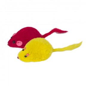 Игрушка для кошек Triol M002C Мышь цветная, 45-50 мм