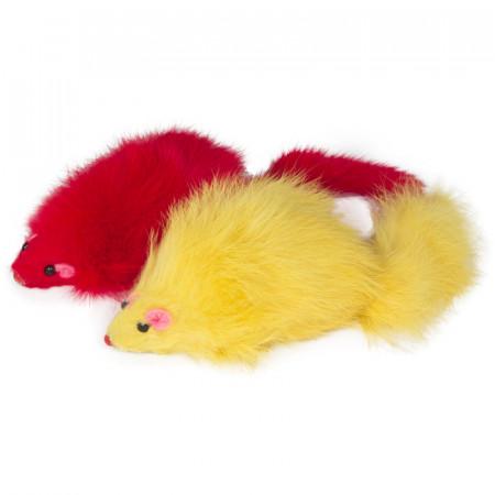 Игрушка для кошек Triol M004C Мышь цветная, 90-100 мм