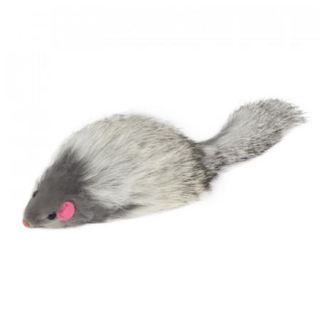 Игрушка для кошек Triol SQ3 Мышь серая с пищалкой, 70-75 мм