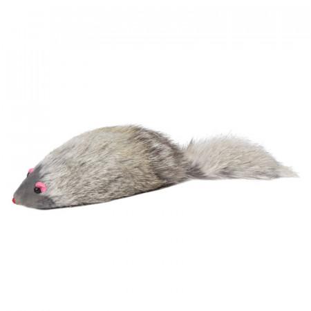Игрушка для кошек Triol SQ4 Мышь серая с пищалкой, 90-100 мм