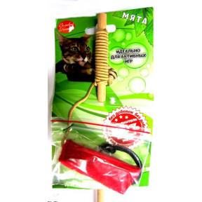 Игрушка для кошек Великий кот Удочка-дразнилка Динамит с кошачьей мятой