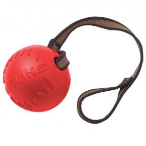 Игрушка для собак Doglike Мяч с лентой средний (коралловый)
