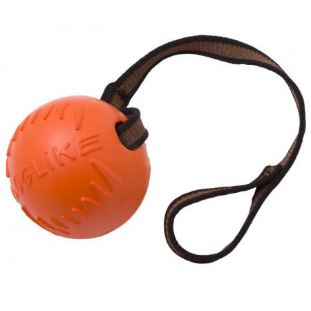 Игрушка для собак Doglike Мяч с лентой средний (оранжевый)