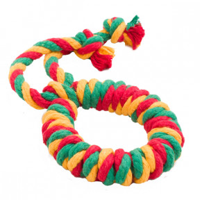 Игрушка для собак Канат Doglike Кольцо канатное большое (желтый-зеленый-красный)