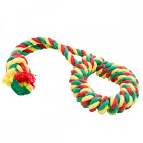 Игрушка для собак Канат Doglike Кольцо канатное малое (желтый-зеленый-красный)