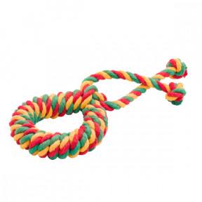 Игрушка для собак Канат Doglike Кольцо канатное среднее (желтый-зеленый-красный)