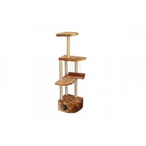Домик-когтеточка для кошек Дарэлл ЧИП 8370 Башня угловая многоуровневый комплекс с гамаком, джут 48х48х171 см