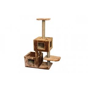 Домик-когтеточка для кошек Дарэлл ЧИП 8373 Кубы многоуровневый комплекс, джут 35х83х117 см