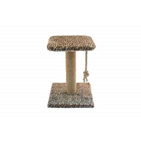 Когтеточка-столбик для кошек Дарэлл ECO 8290 с полкой джут 30х30х42 см