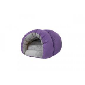 Домик для собак и кошек Дарэлл РАКУШКА-Бархат №2 94472 пухлый фиолетовый, 67х52х35 см