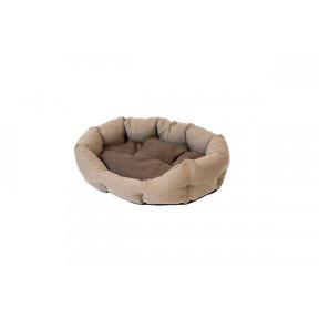 Лежак для кошек и собак Дарэлл Облако-Рогожка №2 94542 бежевый овальный пухлый 49х40х17 см