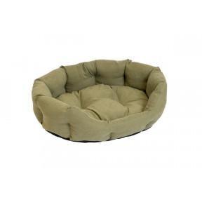Лежак для собак и кошек Дарэлл ОБЛАКО-Бархат №3 94443 милитари, овальный пухлый, 59х51х18 см