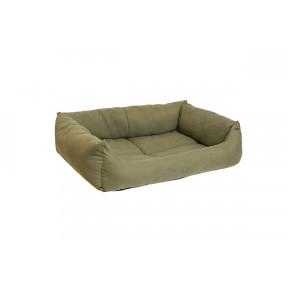 Лежак для собак и кошек Дарэлл Манеж-Бархат №2 94432 милитари, прямоугольный пухлый, 53х39х14 см