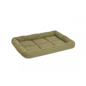 Лежанка для собак Дарэлл Батут-Бархат №2 94412 милитари прямоугольная с валиком 54х37х7 см