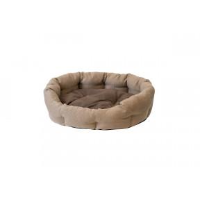 Лежак для собак Дарэлл Облако-Рогожка №4 94544 бежевый овальный пухлый 73х56х23 см