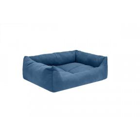 Лежак для собак и кошек Дарэлл Манеж-Бархат №4 94434 синий, прямоугольный пухлый, 80х57х20 см