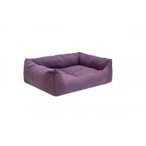Лежак для собак и кошек Дарэлл Манеж-Бархат №3 94434 фиолетовый, прямоугольный пухлый, 65х49х16 см